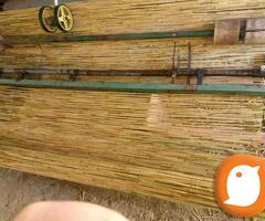 TRSKA pletena pocinkovanom zicom i pletena zelena trska